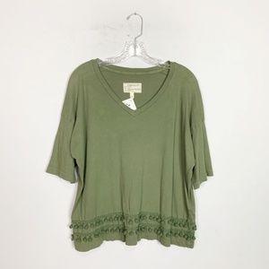 Current/Elliot | tassel hem short sleeve t-shirt 2